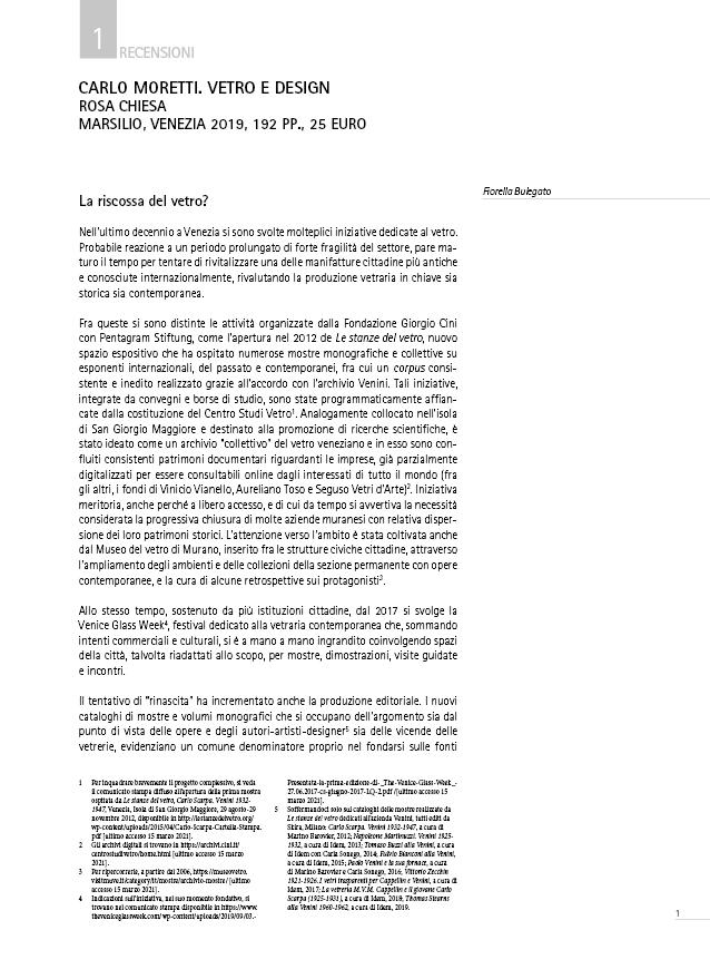 Bulegato Moretti Anteprima Recensione